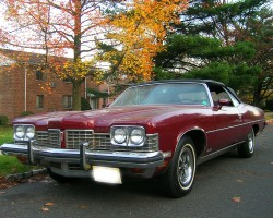 1973 Pontiac Grand Ville convertible left front quarter view
