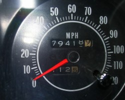 Dave's car has 79,000 original miles.