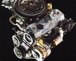 The 1.6-liter four-cylinder engine that powered all Corolla Sport and sedan models from 1984 - 1987.  (Photo credit: Toyota Motor of North America, Inc.)