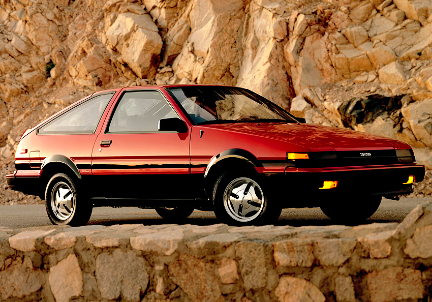 A U.S. market 1984 Corolla Sport SR5 three-door liftback.  (Photo credit: Toyota Motor of North America, Inc.)
