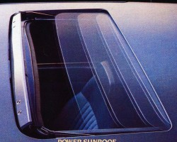 All 1984-87 Corolla Sport models were available with an optional sunroof, as shown in this 1984 brochure picture.  (Photo credit: Toyota Motor of North America, Inc.)