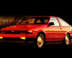 1985 Corolla GT-S left front view.  (Photo credit: Toyota Motor of North America Inc.)