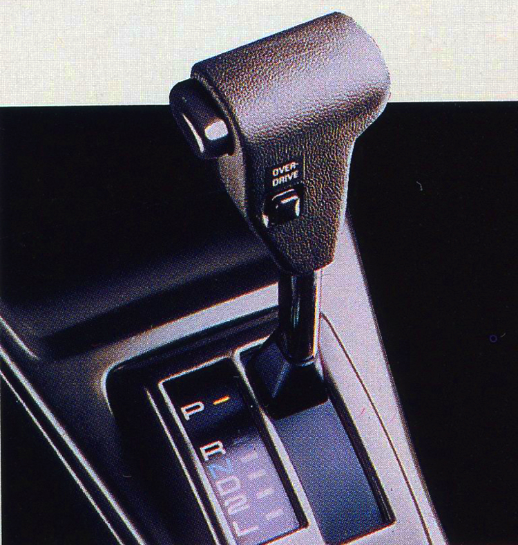 For 1986 - 1987, 4-speed automatic gearshift levers were redesigned and looked like this one.