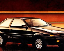 For 1987, hatchback versions of the Corolla Sport were dropped, leaving this GT-S coupe shown and base SR5 coupe.  (Photo credit: Toyota Motor of North America, Inc.)