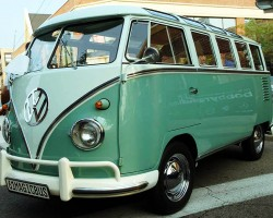 "(18 model years)  1950 - 1967 VOLKSWAGEN TRANSPORTER VAN.  Styling of the first VW vans is considered different enough from later ""Microbus"" versions by owners to break them into two categories.  Here a  1961 model is shown - Photo credit: J. Nunez"
