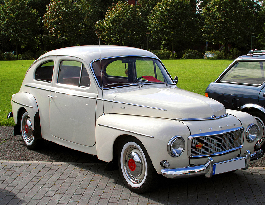 (19 model years)  1947 - 1966 VOLVO PV444 / PV544.  While model designations changed from 444 to 544 for 1959, Volvo's midsize car remained virtually unchanged otherwise.  Here a final-year 1965 PV544 is shown - Photo credit: G. Schwalbach