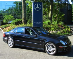 2003 Mercedes E55 AMG owned by Rocky Miranti.