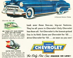 1952 Chevrolet Bel Air ad