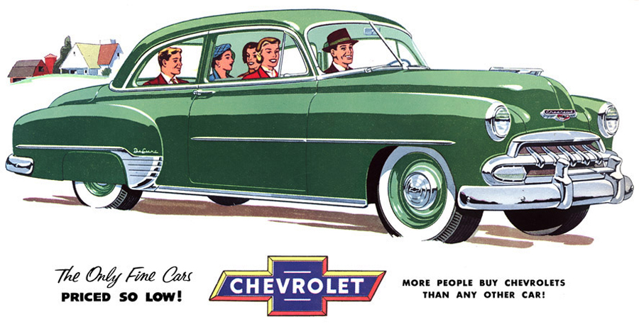 1952 Chevrolet Coupe Ad Classic Cars Today Online