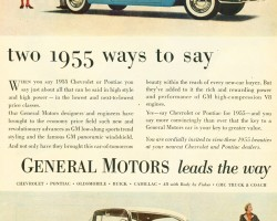 1955 Chevrolet Bel Air Pontiac Catalina ad