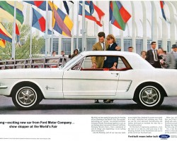 1964 ford mustang ad