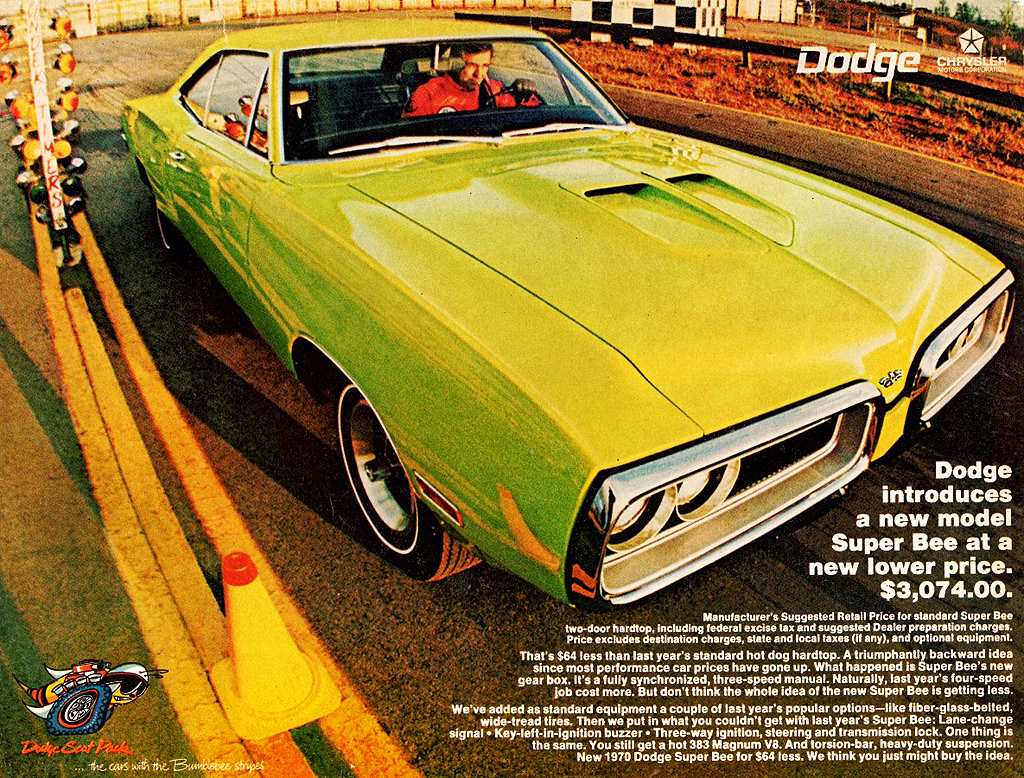 1970 dodge super bee ad classic cars today online