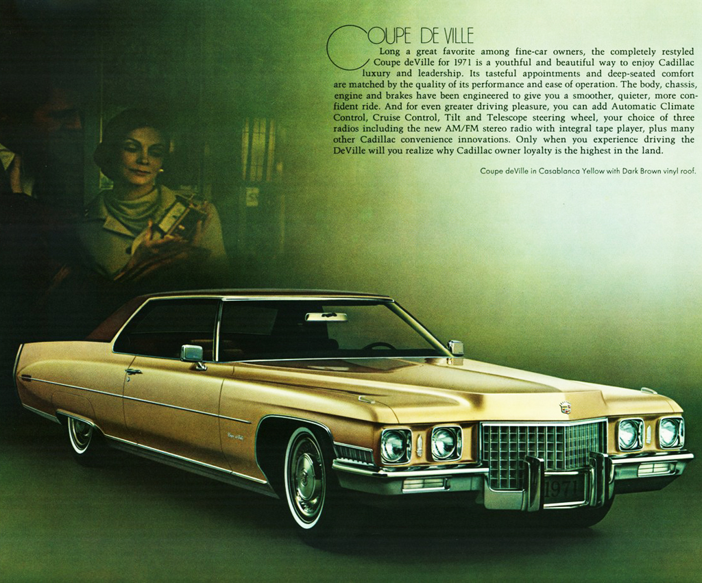 1971 Cadillac Coupe De Ville Ad Classic Cars Today Online