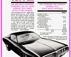1971 dodge charger ad