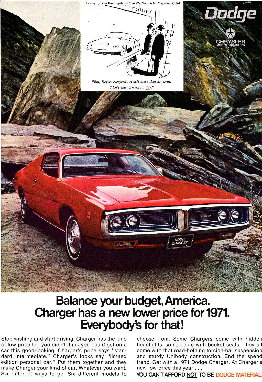 1971 dodge charger ad classic cars today online