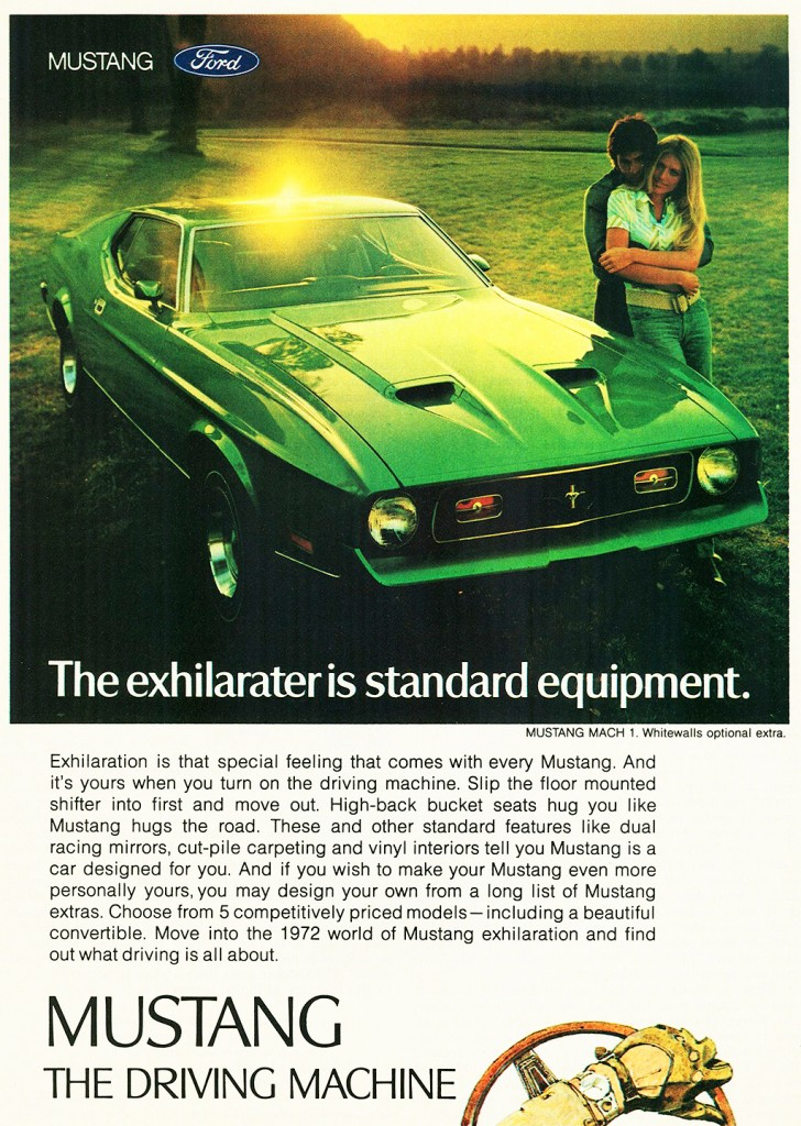 1972 Ford Mustang Mach 1 Ad Classic Cars Today Online