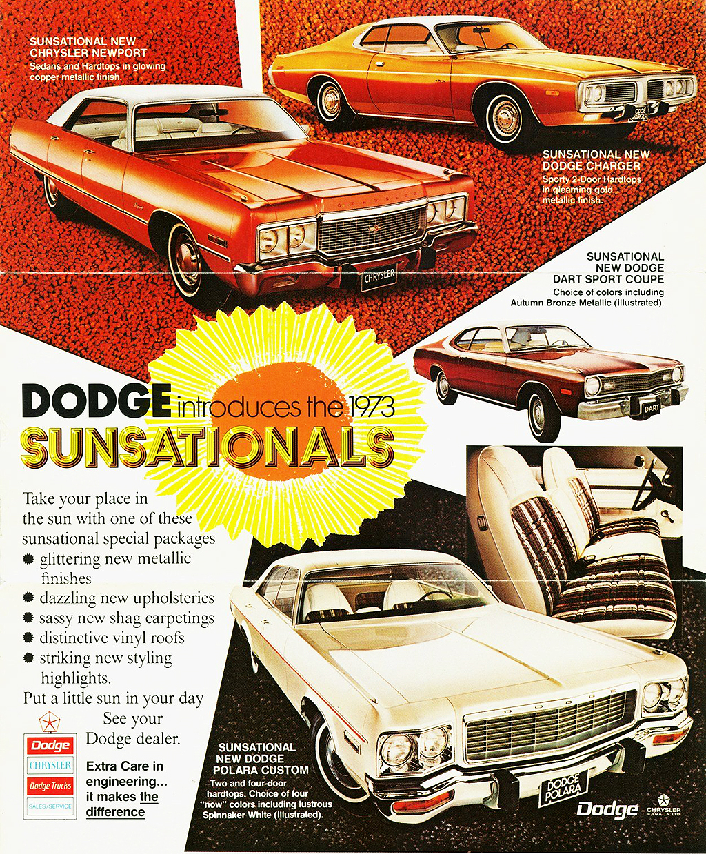 1973 Dodge Charger Polara and Dart ad | CLASSIC CARS TODAY
