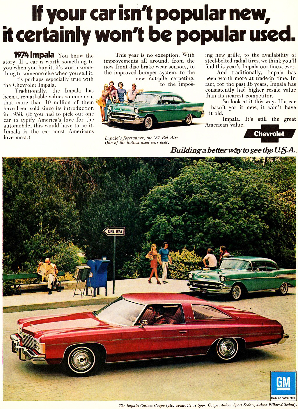 1974 Chevrolet Impala Custom Coupe ad | CLASSIC CARS TODAY ONLINE