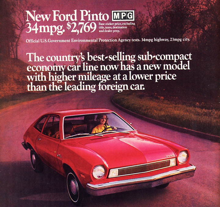 Ford Pinto Ad Base Price