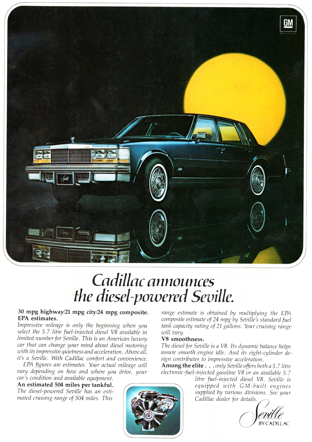 1978 Cadillac Seville Diesel Ad Classic Cars Today Online