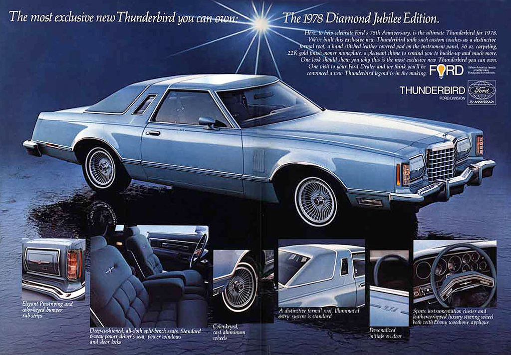 1978 Ford Thunderbird Diamond Jubilee Edition ad