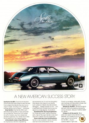 1980 Cadillac Seville Ad CLASSIC CARS TODAY ONLINE
