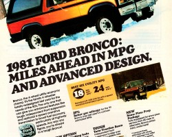 1981 ford bronco ad