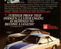 1984 dodge charger ad