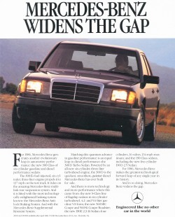 1986 mercedes 300e advertisement