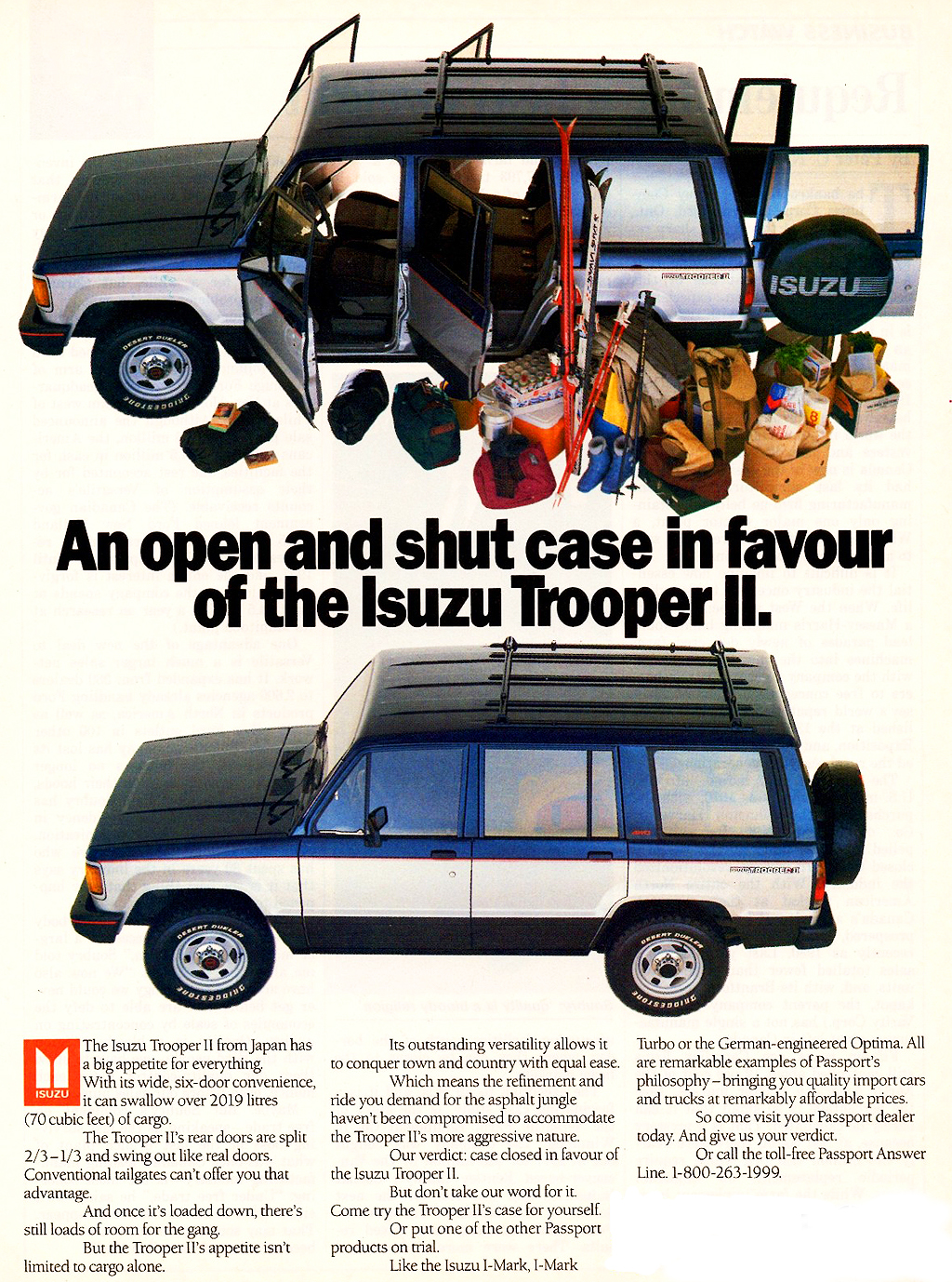 1988 Isuzu Trooper Ad Classic Cars Today Online
