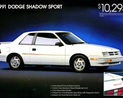 1991 dodge shadow ad
