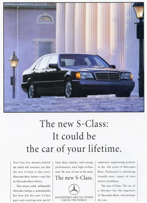 1992 Mercedes S Class Ad Classic Cars Today Online