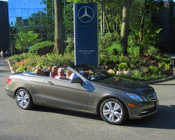 2012 Mercedes E350 Cabriolet owned by Fred Marcus.