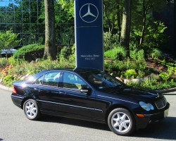 2003 Mercedes C320 owned by Samantha DiMiglio.