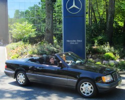 1995 Mercedes E320 Cabriolet owned by Linda Gates.