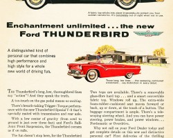 1955 ford thunderbird ad