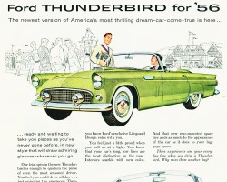 1956 ford thunderbird ad