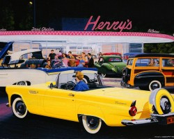 1956 ford thunderbird drive-in