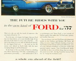 1957 ford ad