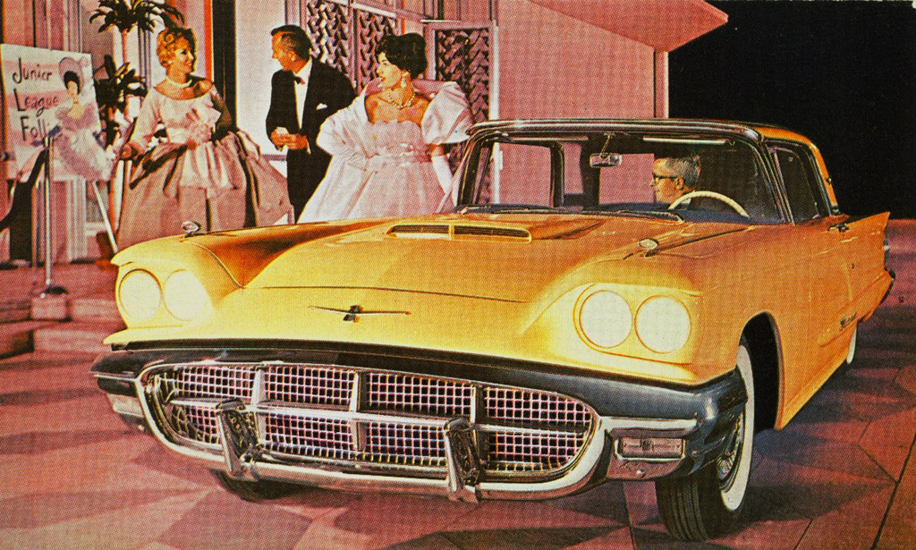 1960 Ford Thunderbird Post Card Classic Cars Today Online