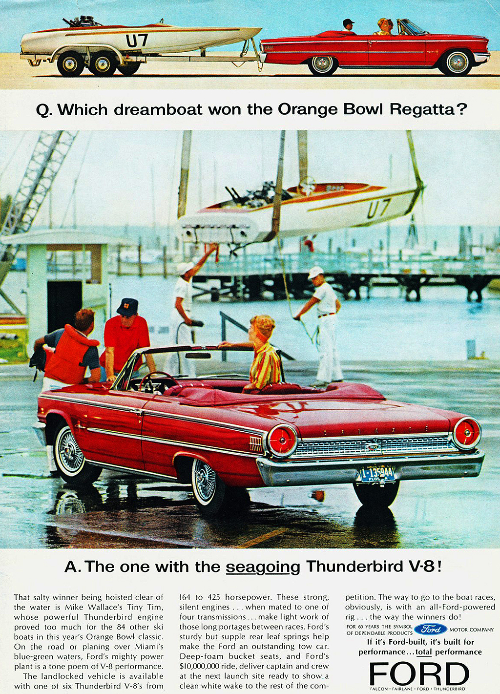 1963 Ford Galaxie Sunliner Convertible Ad Classic Cars