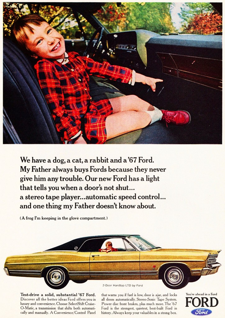 Ford Shelby Truck >> 1967 Ford LTD coupe ad | CLASSIC CARS TODAY ONLINE