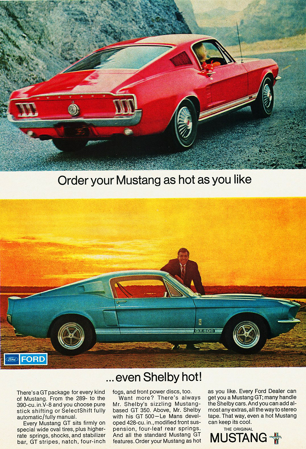 1967 Ford Mustang Shelby Gt500 Ad