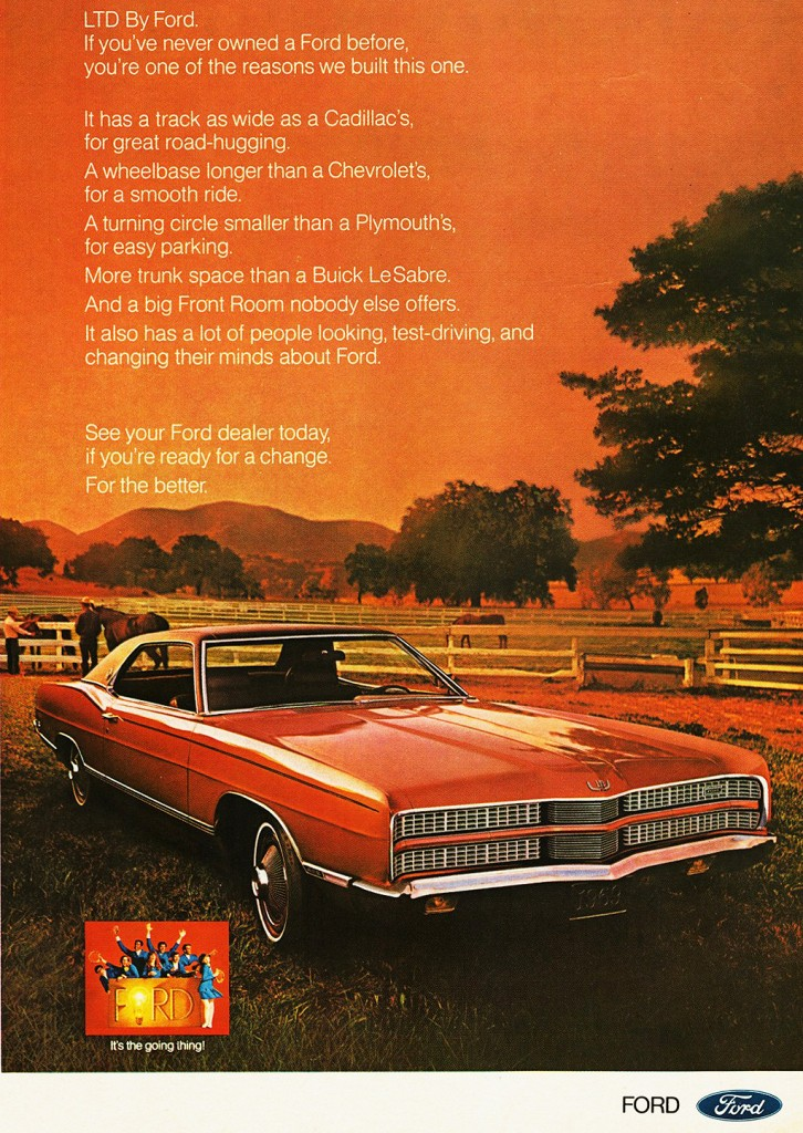 1969 Ford Ltd Coupe Ad Classic Cars Today Online
