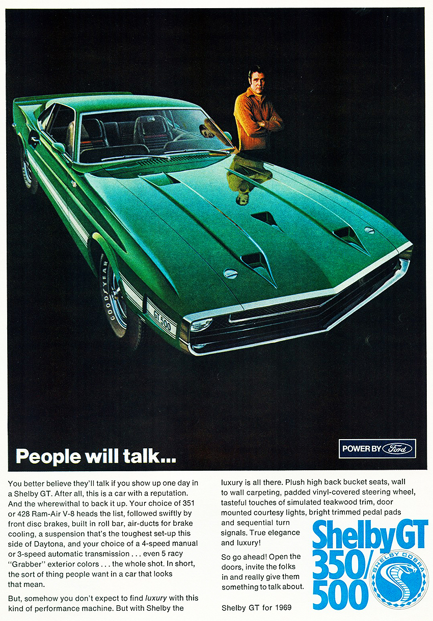 1969 Shelby Mustang GT500 ad a1 | CLASSIC CARS TODAY ONLINE