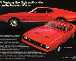 1971 Ford mustang ad
