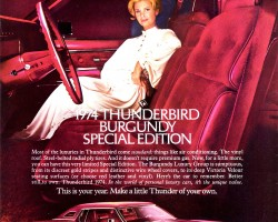 1974 ford thunderbird ad