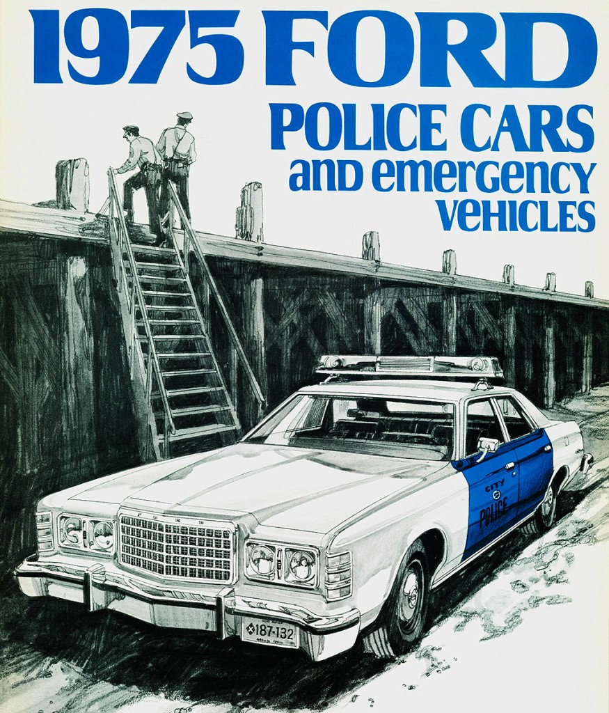 1975 Ford Ltd Police Package Brochure Picture Classic