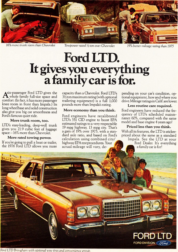 1976 Ford Ltd Ad Classic Cars Today Online