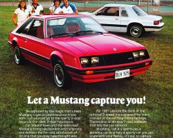 1981 ford mustang ad